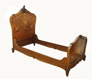 R J Horner Twin Bed Inlaid C 1890 7771