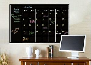 Chalkboard Calendar Wall Sticker Blackboard Dry Erase Self Adhesive Room Decal