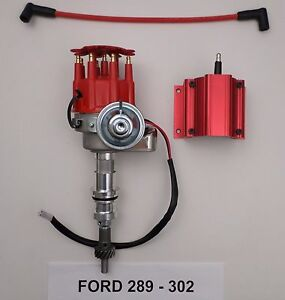 Ford 221 260 289 302 Red Small Cap Hei Distributor 50 000 Volt Hi output Coil