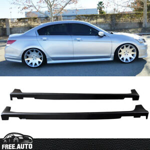 Fit For 2008 2012 Honda Accord 4door Oe Style Side Skirts Polypropylene Pp