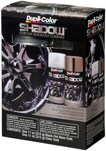 Dupli Color Paint Shd1000 Shadow Chrome Black Out Coating Kit