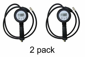 Digital Tire Inflator Deflator Pressure Gauge 59 Long Hose Qty 2