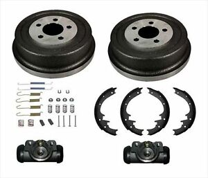 Rear Brake Drums Shoes Spring Wheel Cylinder Kit Fits For 2002 Jeep Liberty