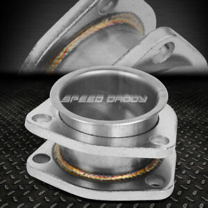 2 X 2 5 Inlet Stainless Steel Catback Downpipe Exhaust Flange Extension Adapter