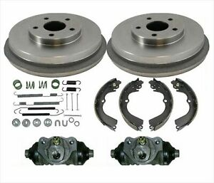 Drums Brake Shoes Wheel Cyl Fits For Subaru 98 08 Forester Only With 4wheel Abs