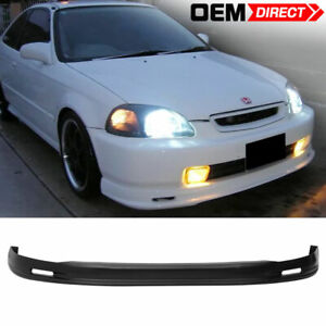 For 96 98 Honda Civic Mugen Style Front Bumper Lip Spoiler