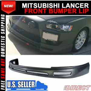 For 08 15 Mitsubishi Lancer B Style Pp Front Bumper Lip