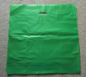 Glossy Jumbo Lime Green Shopping Merchandise Bags 20 x20 x5 Lot 25