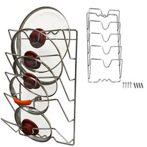Spice Rack Kitchen Organizer Cabinet Wall Door Mounted Pot Lid Metal Sturdy Hold