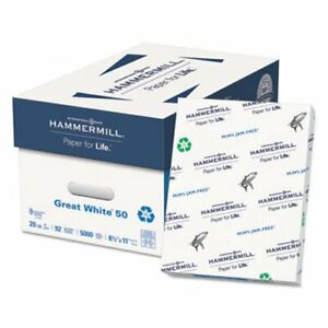 Hammermill Great White Recycled Copy Paper 8 1 2 X 11 5000 carton ham86780