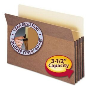 Smead 3 1 2 Expanding File Folder Legal Redrope 50 Folders smd74805