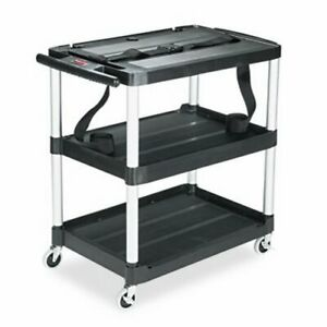 Rubbermaid Mediamaster 3 shelf Av Cart Black rcp9t28
