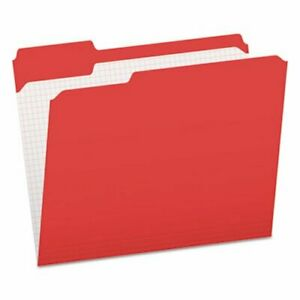 Pendaflex File Folders 1 3 Cut Tab Letter Red 100 box pfxr15213red