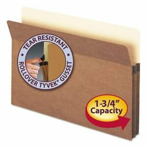Smead 1 3 4 Expanding File Folder Legal Redrope 25 Folders smd74214