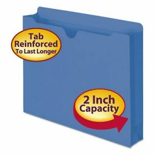 Smead File Jackets 2 ply Tab And 2 Expansion 11 Pt Blue 50 box smd75562
