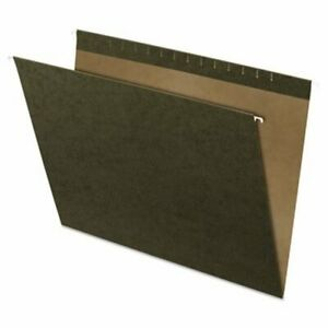 Pendaflex Hanging File Folders Kraft X ray 18 X 14 Green 25 box pfx4158