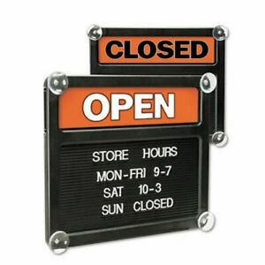 Headline Sign Double sided Open closed Sign W plastic Push Characters uss3727