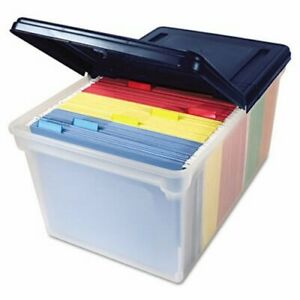 Innovative Storage Designs File Tote Storage Box With Lid Plastic avt55797