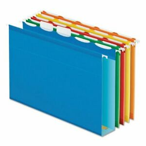 Pendaflex Hanging File Folders 2 Capacity Assorted 20 Per Box pfx42700