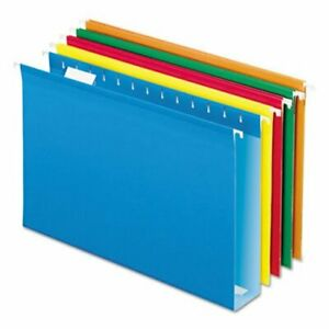 Pendaflex 2 Capacity Hanging File Folders Assorted 25 box pfx4153x2asst