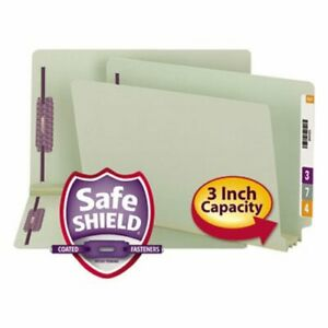 Smead 3 Expansion Folder 2 Fasteners End Tab Legal Gray 25 box smd37725