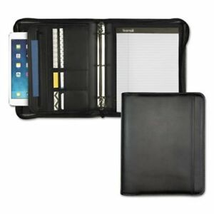 Samsill Zippered Pad Holder ring Binder Vinyl Black sam15650