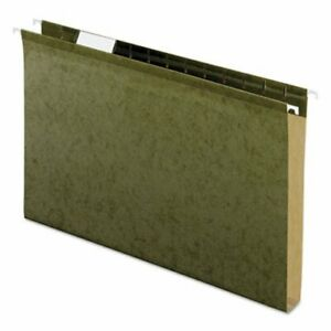 Pendaflex Reinforced 1 Capacity Hanging Folders Green 25 Per Box pfx4153x1