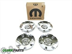 05 08 Chrysler Pacifica With 19 Wheels Chrome Wheel Center Caps Set Oem Mopar