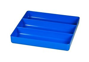 Ernst 5022 3 Compartment Toolbox Tray Organizer Abs Plastic Blue