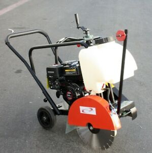 Walk Behind 14 Concrete Cut Off Saw 6 5hp 196cc Gas Engine W Blade
