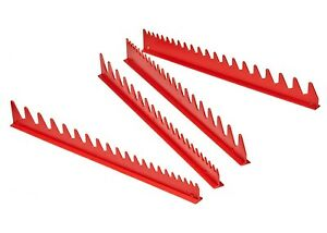 Ernst 6014 40 Tool Wrench Organizer Rail Set Red