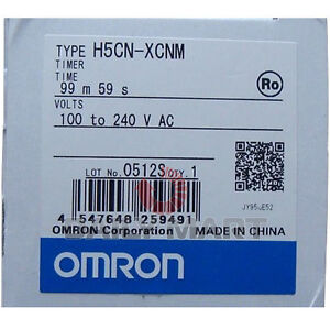 Omron H5cn xcnm Time Relay 99 59min 240v Digital Timer Plc Module New
