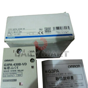 Omron G3pa 430b vd Solid State Relay Dc12 24 30a 5 24vdc 1 Pole Plc Module New