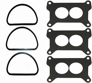 Mopar 3x2 340 440 6 Pack Tri Power Air Cleaner Carb Base Gasket Holley G46 M