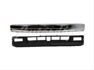 For 90 93 Mazda B2200 B2600 Pickup Front Bumper Face Bar Chrome Valance 2pc