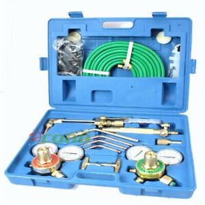 Ul Oxygen Acetylene Regulator Gauges Victor Type Welding Cutting Torch Kit Hose