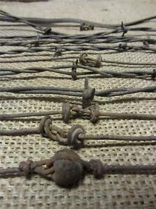 Vintage Iron Barb Wire Collection Antique Old Rusty Decor Western Rustic 9258