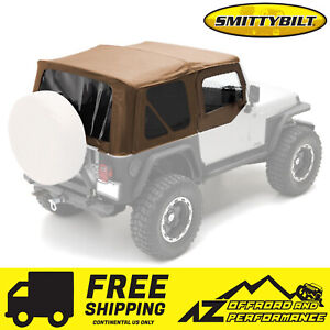 Smittybilt Replacement Soft Top W Half Door Skins 87 95 Jeep Wrangler Yj Spice
