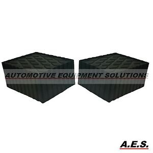3 Rubber Stacking Blocks Drive on Alignment Rack Rolling Jack Lift Accessory