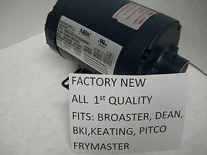 New Haight nbk Hot Oil Motor Fits Dean Bki Keating Frymaster Pitco Fry Filters