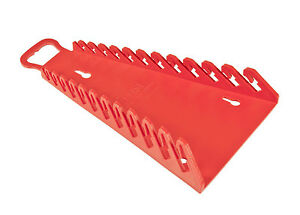 Ernst 5115 12 Tool Reverse Gripper Wrench Organizer Red