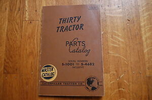 Cat Caterpillar Thirty Tractor Dozer Crawler Parts Manual Book Spare Catalog 30