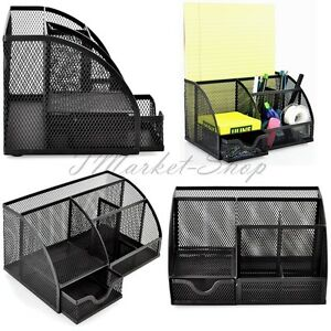 Desk Organizer Office Supply Drawer Metal Mesh Heavy Duty W Microfiber Cleaning