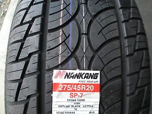 4 New 275 45r20 Nankang Sp 7 Tires 2754520 275 45 20 R20 45r