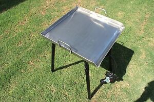 New Concord Stainless Steel 20 X 20 Flat Top Grill W Single Burner Stand Stove