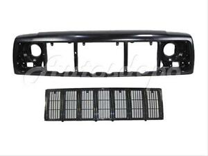 For 1997 2001 Cherokee Front Header Mounting Panel Grille Black 2pc