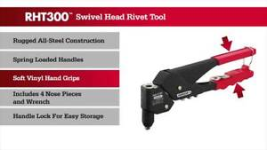 Pop Rivet Tool Arrow Rht300 W 360 Swivel Head Up To 3 16 Inch Rivets Christmas