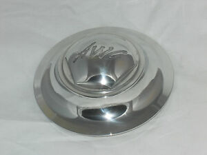 Awc Wheel Rim Center Cap 6 7 8 Dia Polished Aluminum Snap Pop In With O Ring