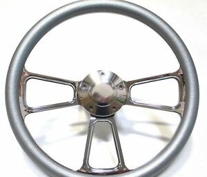 1965 1966 1967 1968 1969 Ford Mustang Silver Steering Wheel Horn