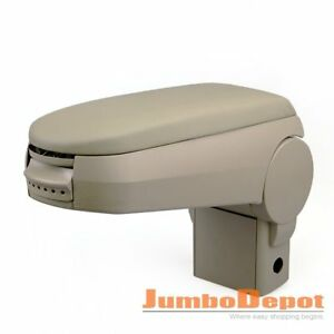 Us Beige Center Console Leather Armrest Fit Vw Golf Bora Jetta Gti Mk4 1999 2004